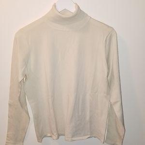 PENDLETON SZ M Women's turtleneck silk nylon blend